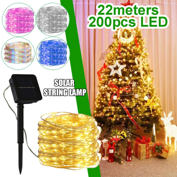 200LED Solar Powered String Fairy Light for Outdoor Decoration_1