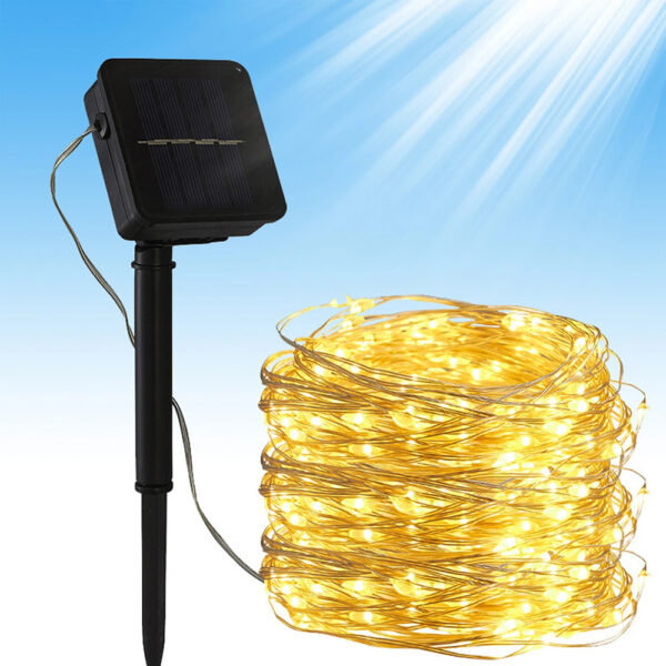 200LED Solar Powered String Fairy Light for Outdoor Decoration_2