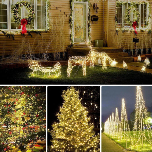 200LED Solar Powered String Fairy Light for Outdoor Decoration_5