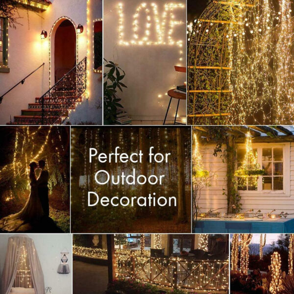 200LED Solar Powered String Fairy Light for Outdoor Decoration_6
