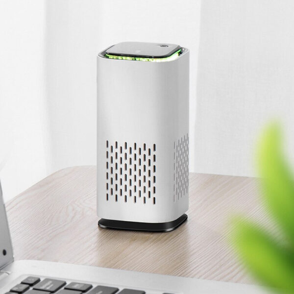 Mini Car Home Air Purifier and Night Light with Real HEPA Filter_4
