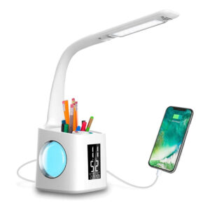 Multifunctional LED Dimmable Desk Lamp with Charging Port_0