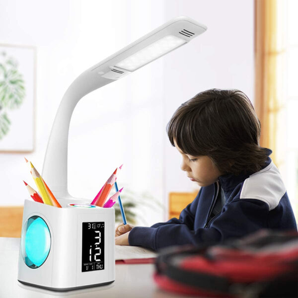 Multifunctional LED Dimmable Desk Lamp with Charging Port_2