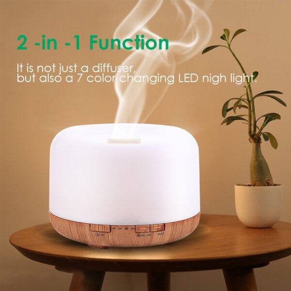 Aroma Therapy Scent Diffuser Humidifier and LED Night Light_5