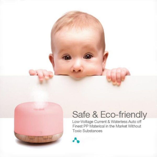 Aroma Therapy Scent Diffuser Humidifier and LED Night Light_6