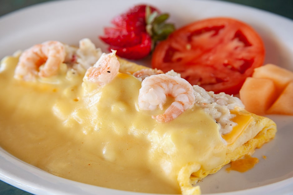 Seafood Omelet at Captain's Galley