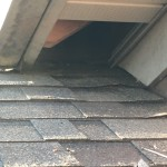 Vinyl soffit return breached by a raccoon in Richmond KY