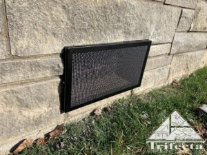 Close up of XclusionPro foundation vent guard install
