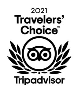 2021 Tripadvisor Travelers Choice award badge