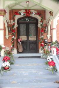 Front Door at Christmas