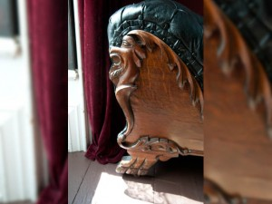 Fainting Couch Carved Leg