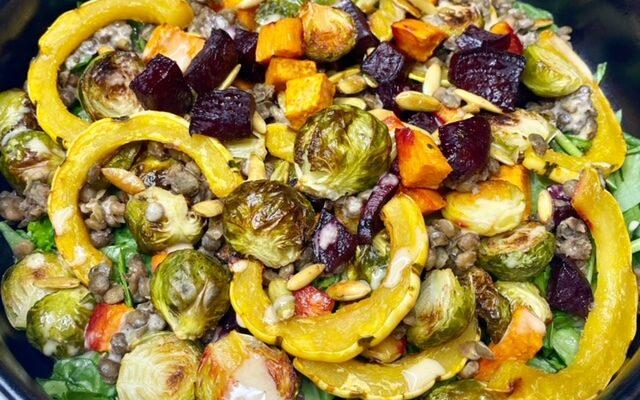 Roasted Vegetable & Lentil Salad