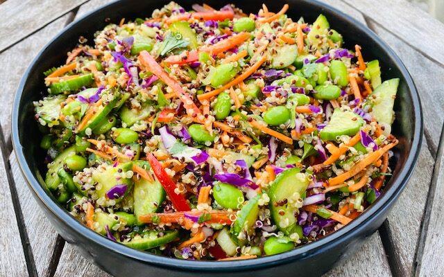 Asian Quinoa & Edamame Salad