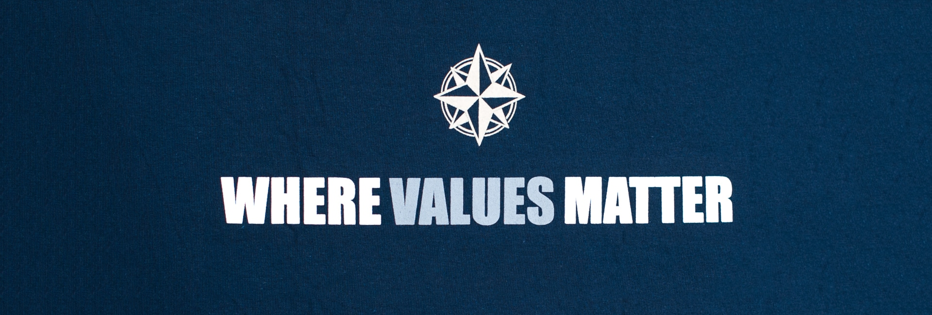 """T-shirt with """"where values matter"""""""