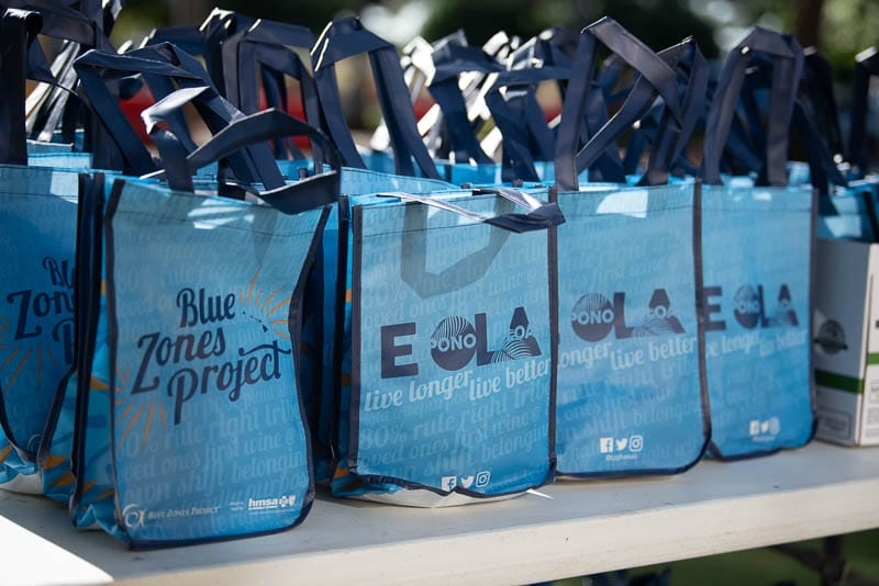 Bags of snacks from Blue Zones Project