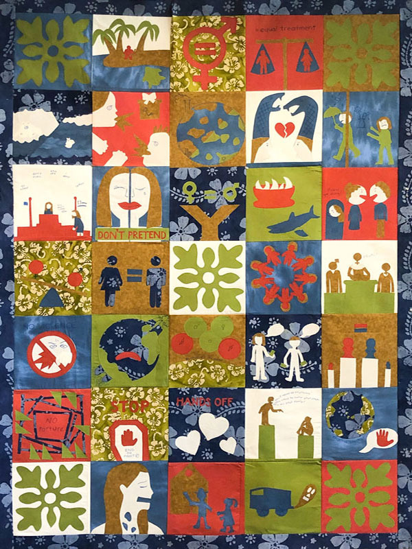 The Grade 6 quilt created for The Patchwork Healing Blanket project.