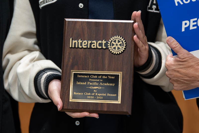 Rotary Club Youth Service Club of the Year plaque