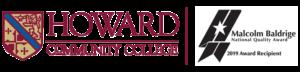 Howard Community College logo and Baldrige 2019 winner logo