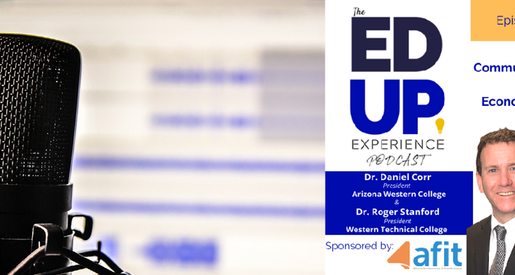 Photo of Daniel Corr and Roger Stanford and The Ed Up Experience Podcast logo