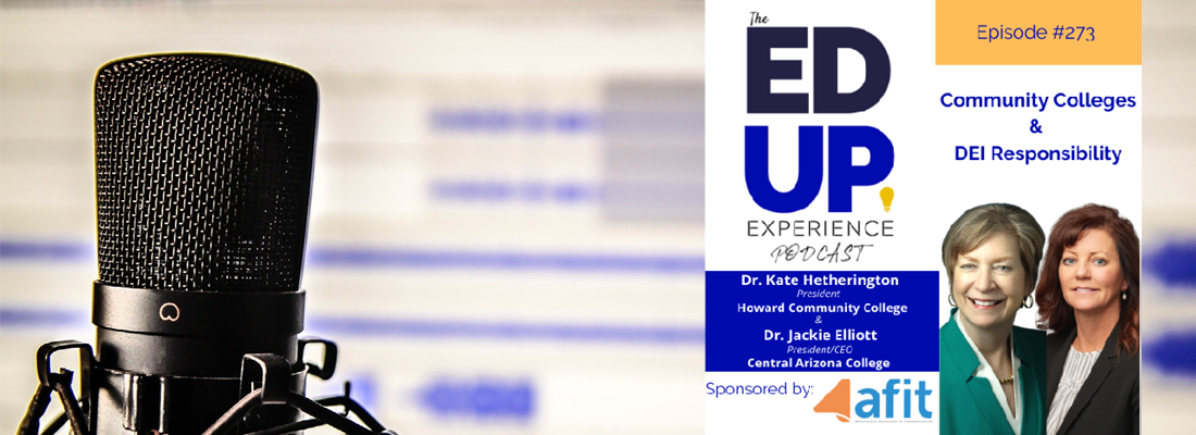 Picture of Dr. Jackie Elliott and Dr. Kate Hetherington on the Ed Up Experience Podcast.