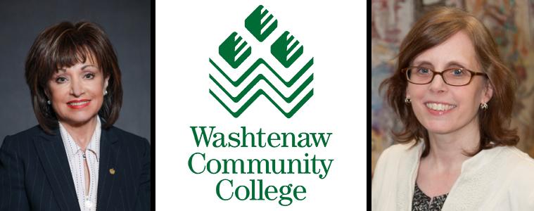 Dr. Rose Bellanca and Dr. Julie Morrison of Washtenaw Community College