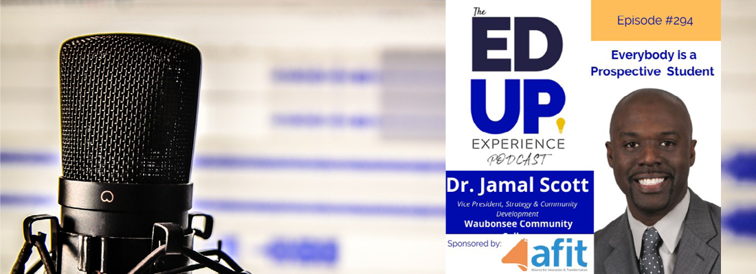 Photo of Dr. Jamal Scott, Vice President of Strategy & Community Development at Waubonsee Community College, who recently appeared on the Ed Up Experience Podcast.