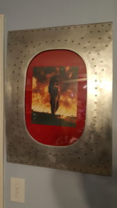 Jennifer in a training fire at DFW Airport.