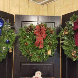 Fresh, evergreen wreaths