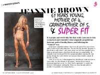 JEANNIE BROWN IS 61 YEARS YOUNG & SUPER FIT!