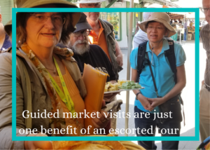 Picture of a group at a market