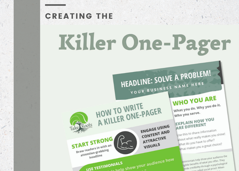How To Create A Killer One-Pager