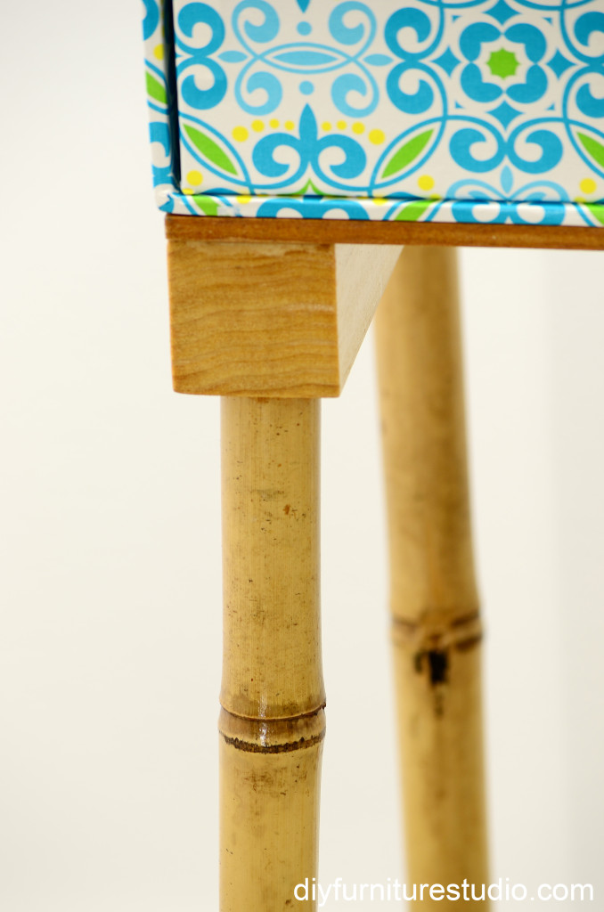 DIY bamboo furniture legs.