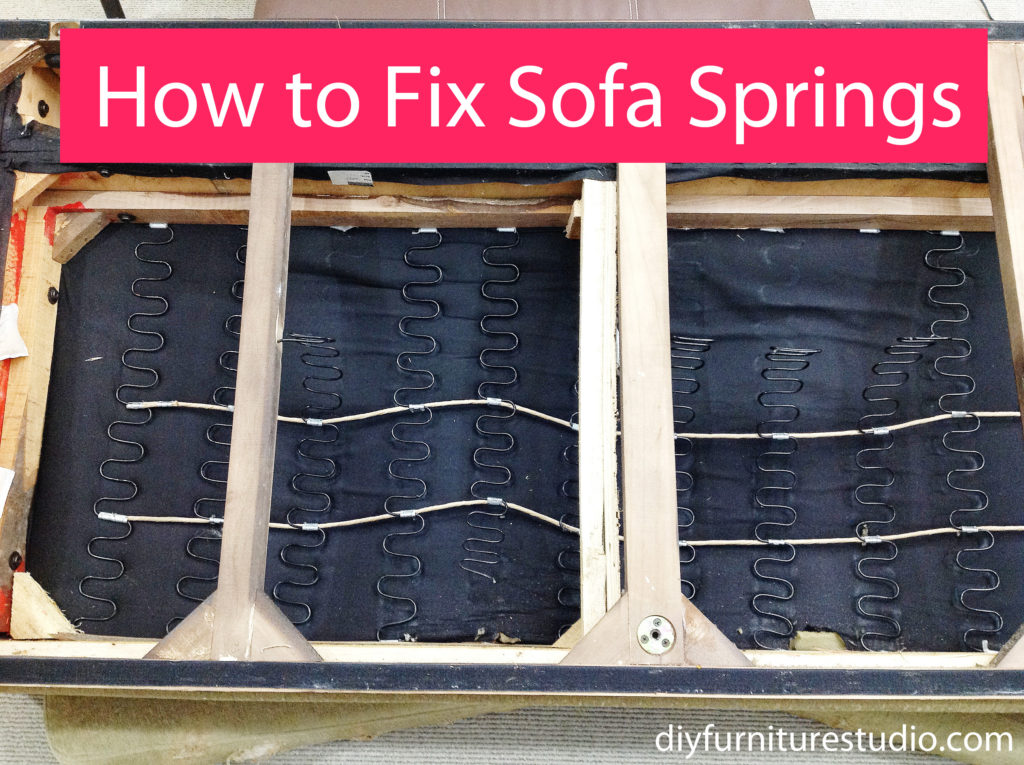 How to Fix the Springs on the Saggy Sofa DIY
