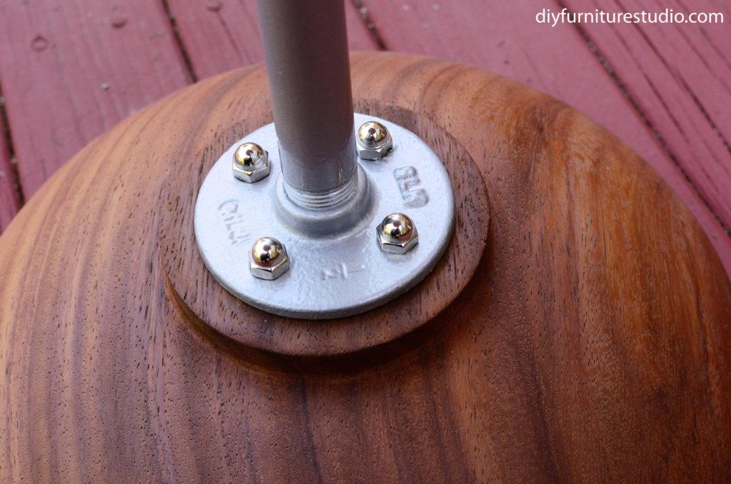 base of pedestal base of DIY bistro table