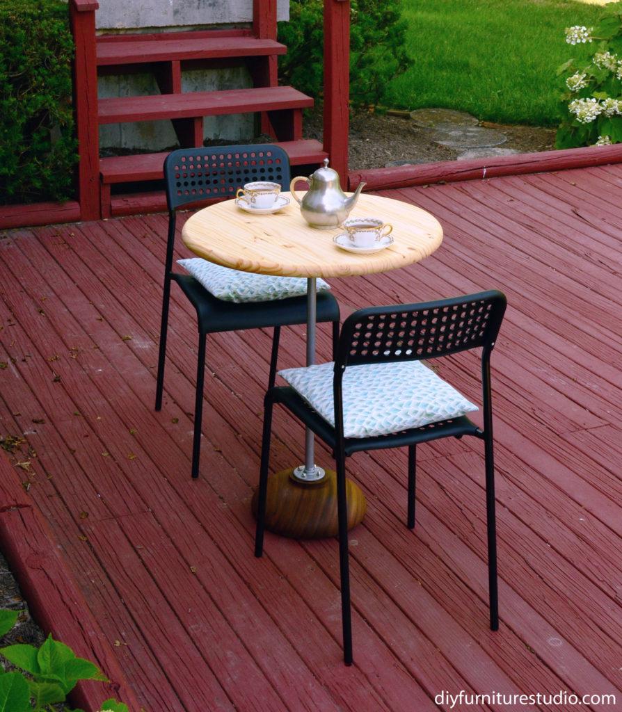 DIY patio furniture bistro table