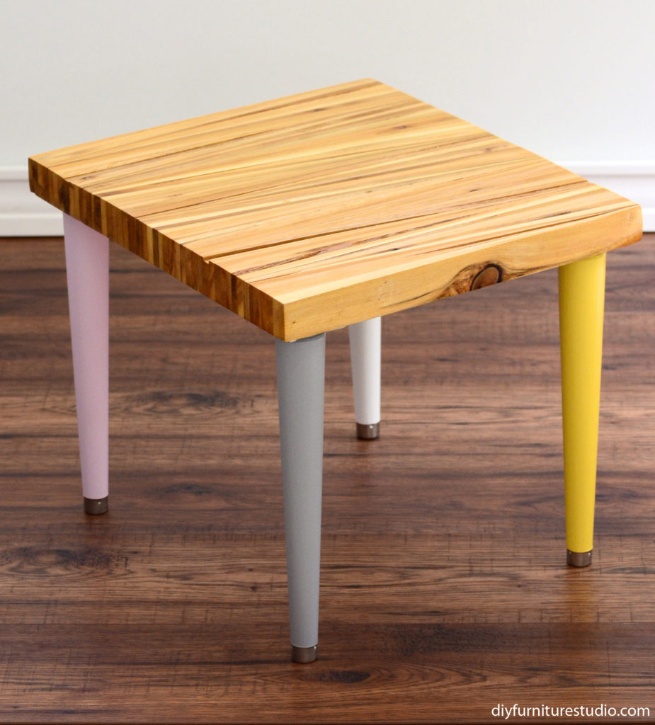 Waddell legs painted several colors for shim table top side table