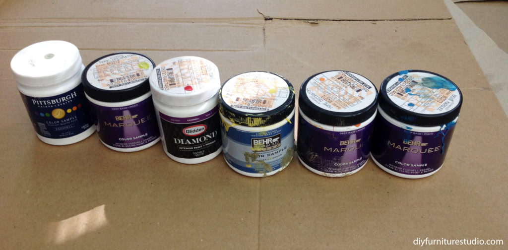 Paint used to tint cement decor, Behr, Pittsburgh, Glidden, etc