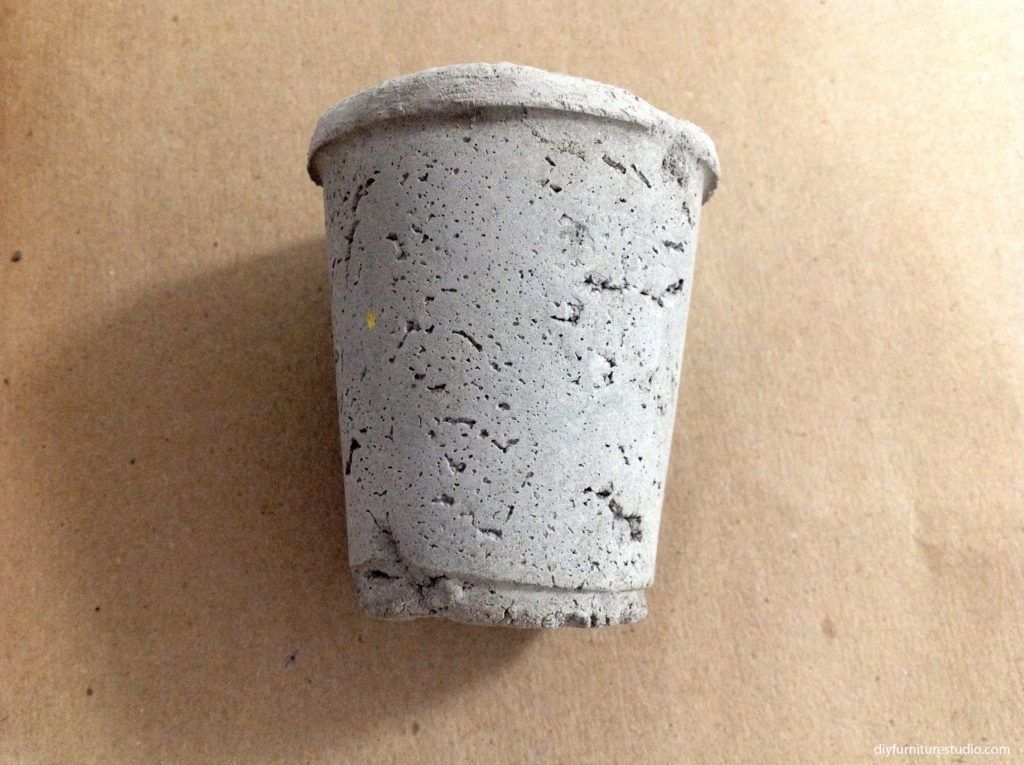 Applying Rain Guard sealant to DIY cement bowls, planters, pots, and other decor.