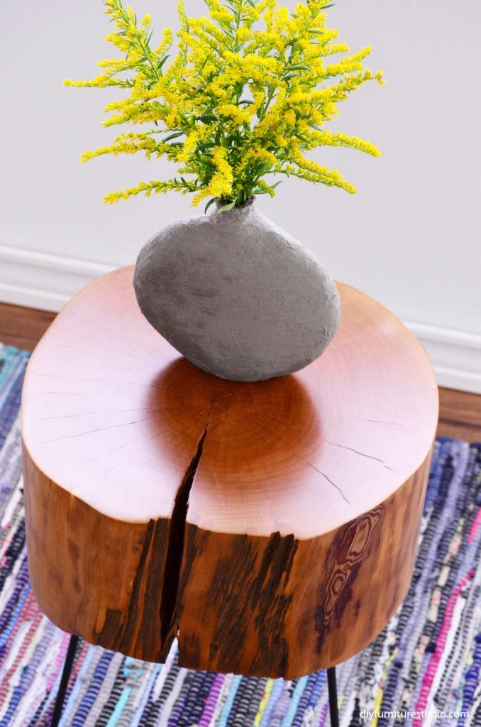 DIY cement vases.