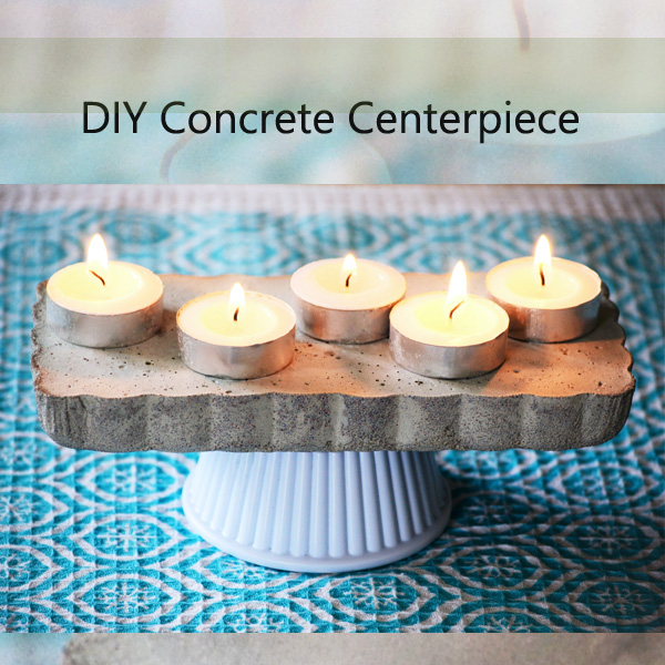 DIY Concrete Centerpiece. Tutorial.
