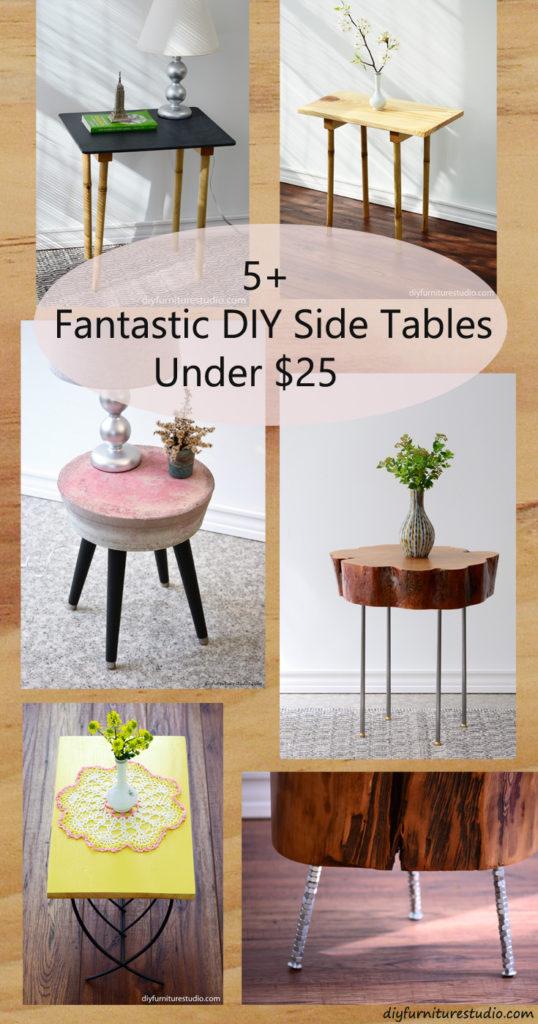 Fantastic DIY Side Tables Under $25 from (your) DIY Furniture Studio.