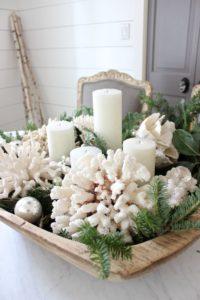 Coastal Christmas Decor - basket