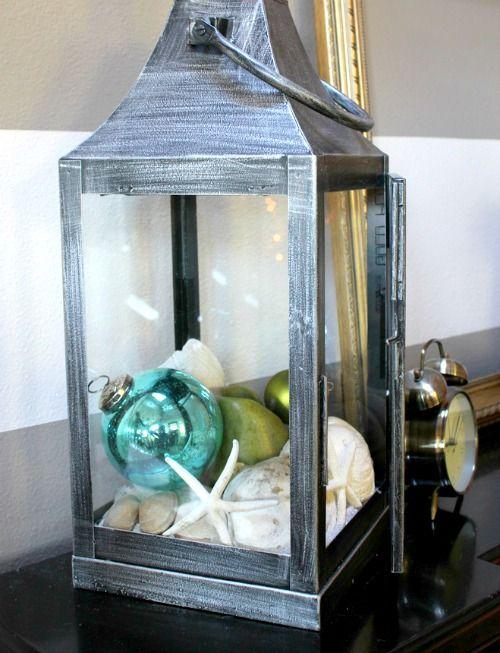 Coastal Christmas Decor - Lantern