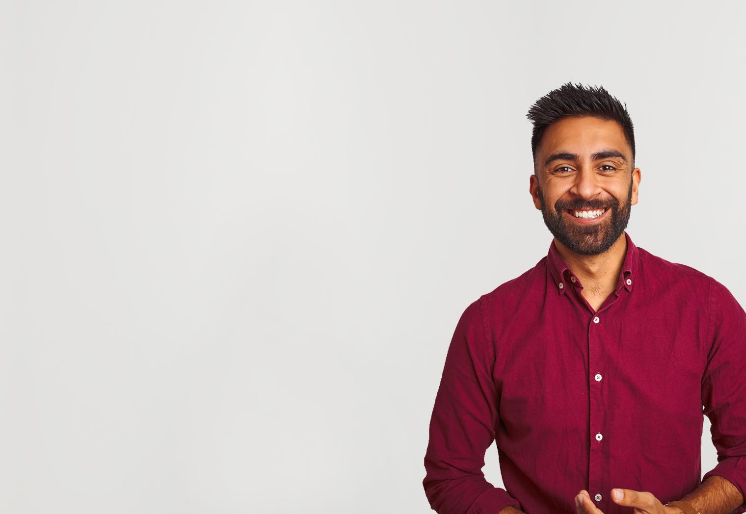 Smiling portrait of a man