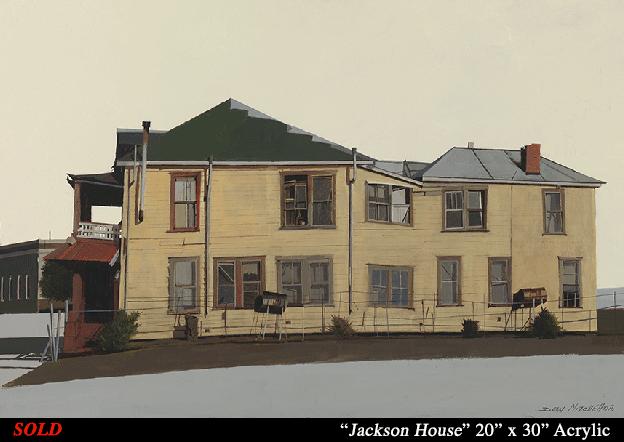 """Jackson House 20"""" x 30"""" Acrylic"""