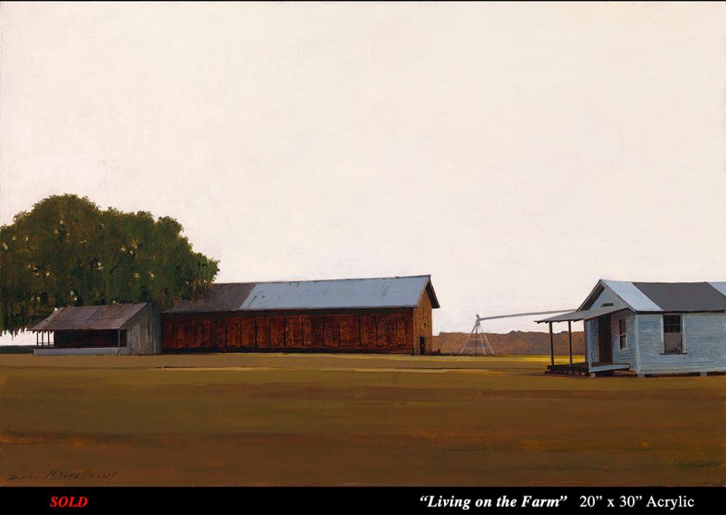 """Living on the Farm Acrylic 20"""" x 30"""""""