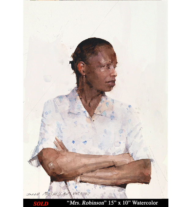 """Robinson 15"""" x 10"""" watercolor"""