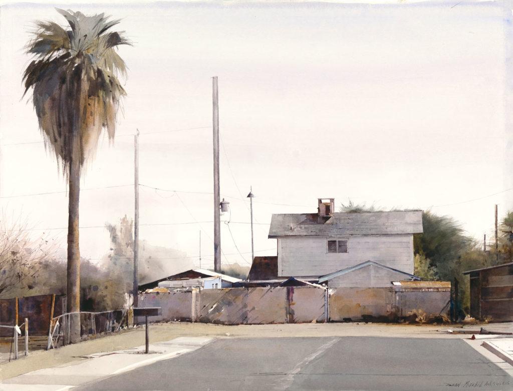"Dead End 30"" x 22"" watercolor"
