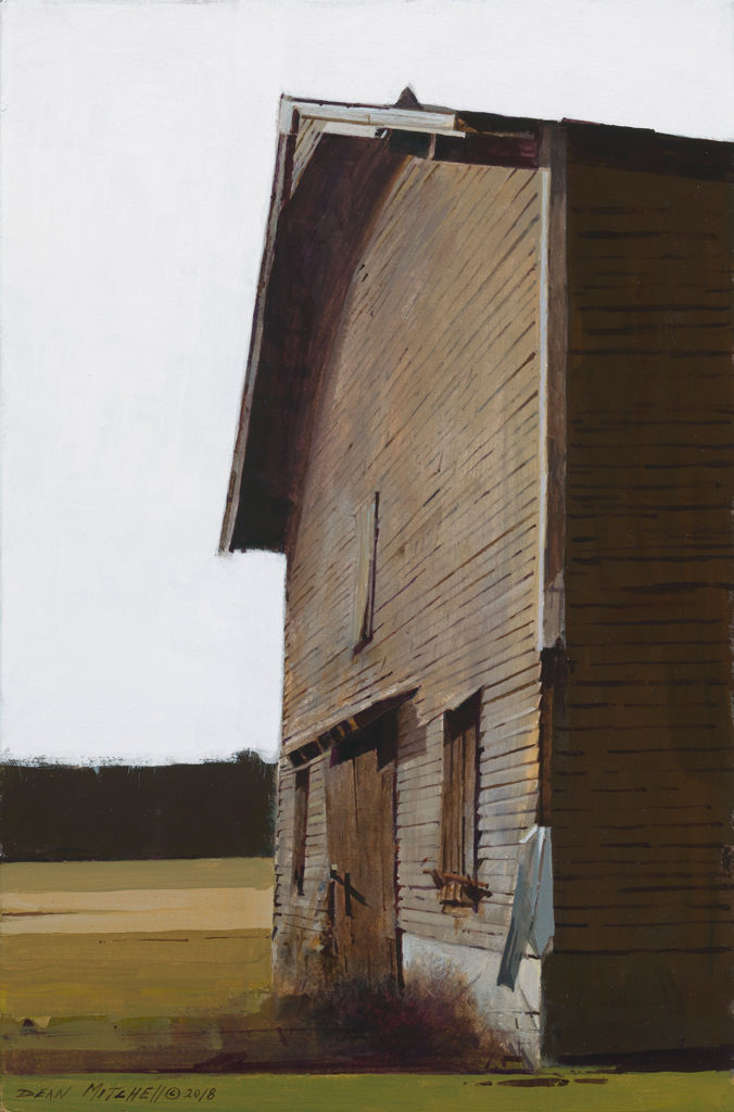 """<strong style=""""color: red;"""">SOLD</strong>  Quincy Tobacco Barn 15"""" x 10"""" acrylic"""