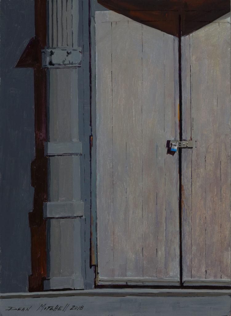 "Warehouse Door 15"" x 11"" acrylic"